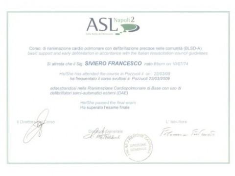 certificazione BLSD