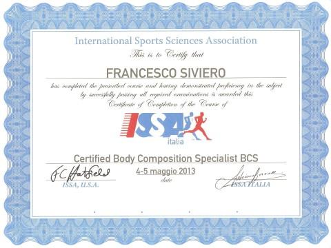 master BCS (Specialista in composizione corporea)
